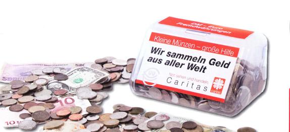 Ausländische Und Alte Münzen Helfen Ihre Spende Hilft